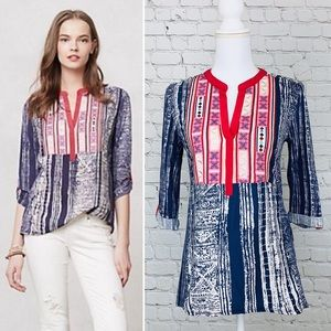 Anthropologie Tops - Anthropologie Tiny Ashbury boho embroidered top xs